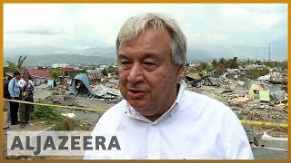 🇮🇩UN chief tours disaster-hit Indonesia as World Bank pledges aid l Al Jazeera English - ALJAZEERAENGLISH