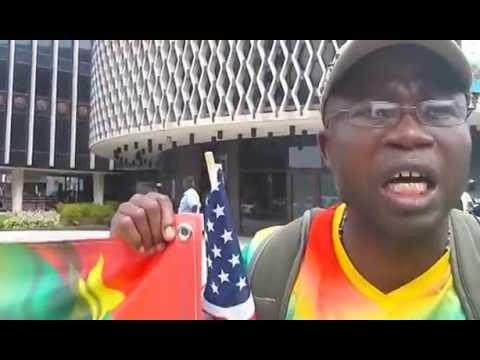Manifestation anti COMPAORE - WASHINGTON  Sommet des Leaders (Déjà en Août 2014)