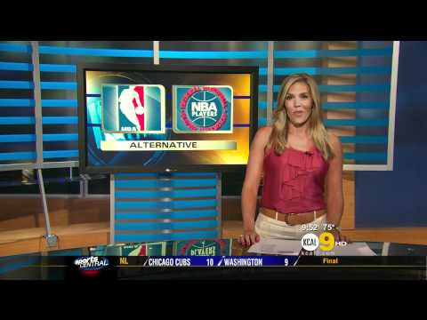 Jaime Maggio 2011/07/07 9PM KCAL9 HD; Satin pink top