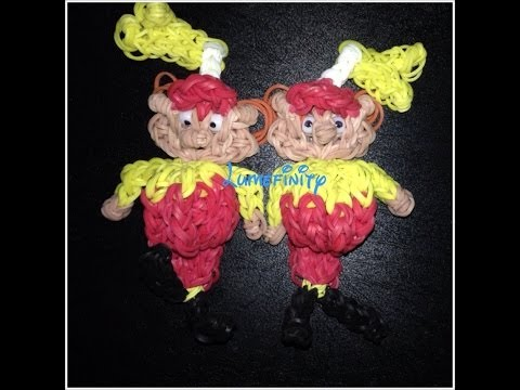 Rainbow Loom Tweedle Dee and Tweedle Dum