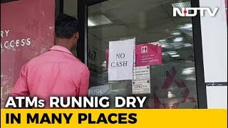 ATMs Run Dry In Many Places - NDTV