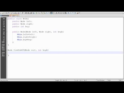 Binary Search Tree: find (lookup) method Part 1/2