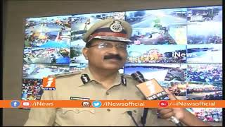 Facial Recognition Technology Using For Ganesh Nimajjanam In Hyderabad | DGP Mahender Reddy | iNews - INEWS