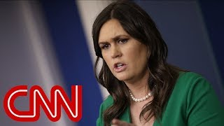 Sarah Sanders' evolution: From push back to hedging answers - CNN