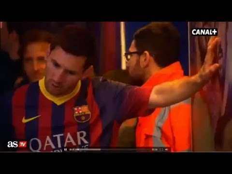 Lionel Messi vomits in the tunnel | Barcelona 2-1 Athletic 2014