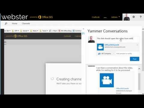 Office 365 Summit video uploaded to new Office 365 Video portal