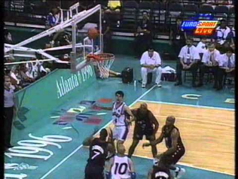 1996 Olympics Men's Basketball Final, USA vs Yugoslavia [1 of 2]