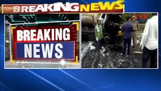 Oil Tanker Hits Lorry At Kolanukonda   Guntur   CVR NEWS - CVRNEWSOFFICIAL