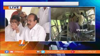 All-Party Leaders Visits Kondagattu Bus Mishap Victims Families | iNews - INEWS