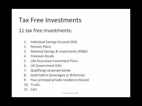 Tax Free Investments Video