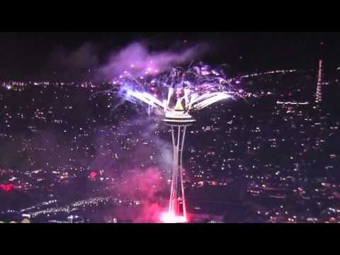 Seattle Space Needle~2011 New Year Fireworks