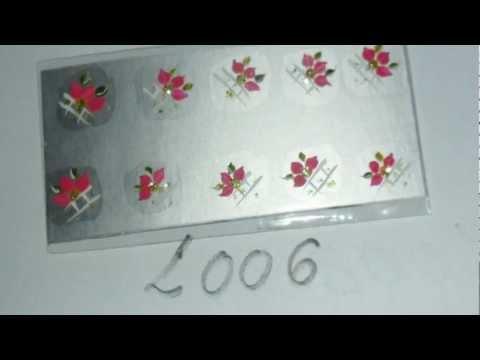 Adesivos artesanais para unhas na caixinha de leite