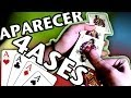 Trucos con Cartas Tutorial para Sacar los 4 Ases (truco con cartas facil)