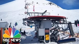 Terrifying Ski Lift Malfunction Caught On Camera | NBC News - NBCNEWS