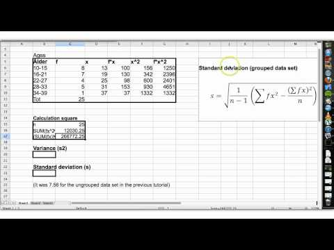 Basic statistics tutorial 23 standard deviation (grouped data)