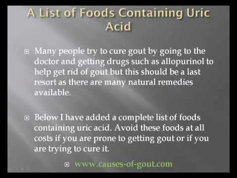 A List of Foods Containing Uric Acid