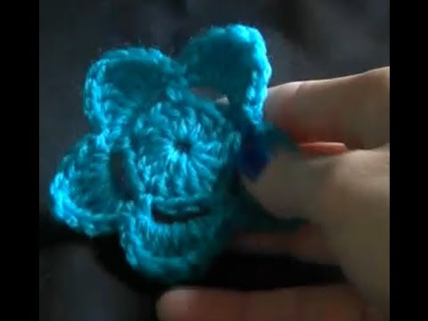 Crochet a flower Tutorial