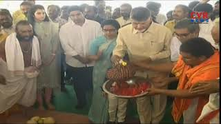 Chandrababu Grand Son Nara Devash Hungama at Polavaram Project | Polavaram Spillway Gallery Walk - CVRNEWSOFFICIAL