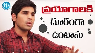 I Would Like To Stay Away From Experimental Films - Allu Sirish || Talking Movies with iDream - IDREAMMOVIES