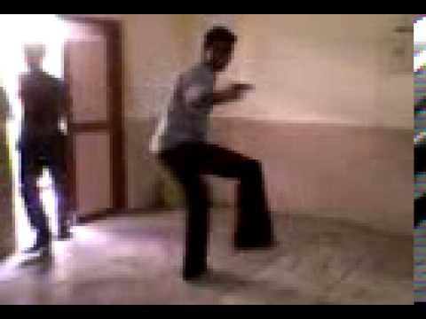 Ayyappan and his friend Venkat dancing villu song - bruceleeayyappan