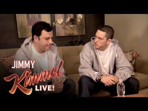 Briefcase Joe Eminem Teaches Jimmy Kimmel to Rap