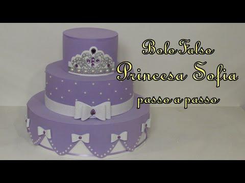 Bolo Falso Princesa Sofia passo a passo