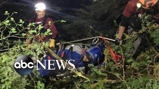 Hiker Survives Terrifying Fall Down a Waterfall - ABCNEWS
