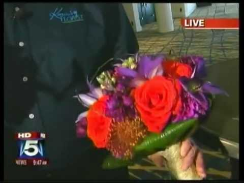 Karins Florist live on Fox 5 to talk about wedding flowers