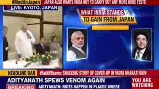 Prime Minister Narendra Modi visits Toji temple in Kyoto with Shinzo Abe - NEWSXLIVE