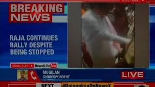 BJP Neta H Raja creates ruckus at Ganesh Chaturthi rally; calls cops corrupt, abuses them - NEWSXLIVE