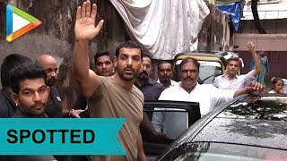 John Abraham & team visit Gaiety Galaxy for Satyameva Jayate REACTIONS - HUNGAMA