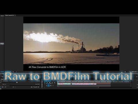 Tutorial - Raw to BMD Film Log in Adobe Camera Raw - Super Easy