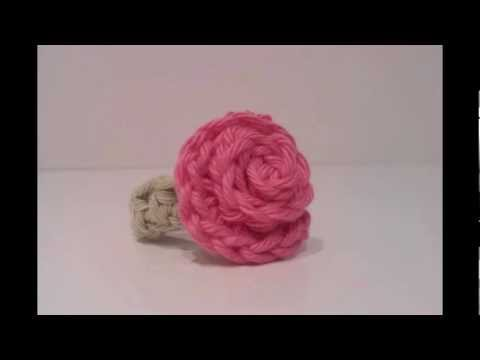 How to crochet a rose flower ring. |Tutorial.