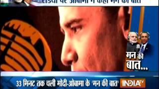 Modi, Obama open hearts in 'Mann Ki Baat' - INDIATV