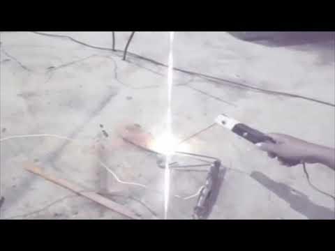 como hacer una maquina de soldar casera de alambre galvanizado