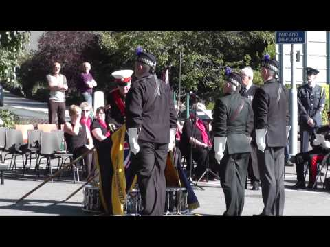 World War One memorial parade,Oban,September 2014