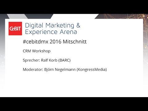 #cebitdmx: CRM Workshop mit Ralf Korb (BARC)