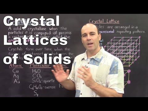Gen Chem II - Lec 6 - Crystal Lattices of Solid Structures