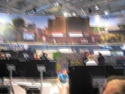 Gamescom 2009 PlayStation booth tour - UNCHARTED 2