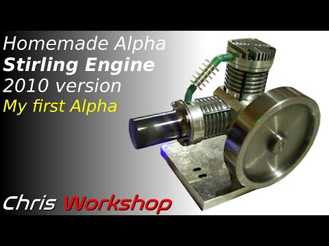 Moteur Stirling Alpha - Alpha Stirling Engine - Alpha Stirling Motor