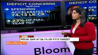 Newsroom- Fiscal Gap At 56.1% Of FY15 Target - BLOOMBERGUTV