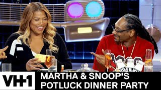 Queen Latifah's Secret Stress Reliever 'Sneak Peek' | Martha & Snoop's Potluck Dinner Party - VH1
