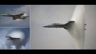 بالفيديو.. مقاتلة حربية أمريكية تخترق حاجز الصوت وتحدث انفجار