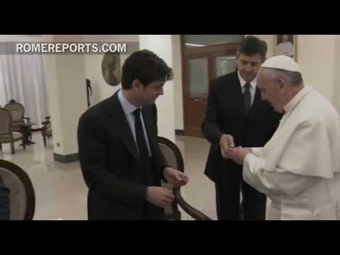 Pope meets with players of 'Juventus,' Italy's Soccer Champions