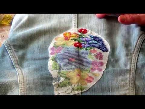 Вышивка по ткани своими руками 54