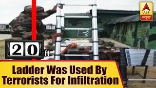 This 20 feet foldable ladder was being used by terrorists for infiltration - ABPNEWSTV