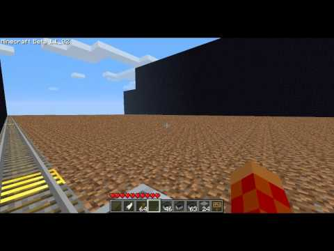 Minecraft Railgun 1247 Meter Range