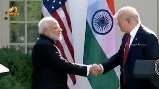 PM Modi Speech at the Joint Press Statements with President Trump in Washington DC | Mango News - MANGONEWS