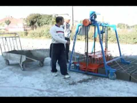 presa boltari si pavele - concrete block making machine
