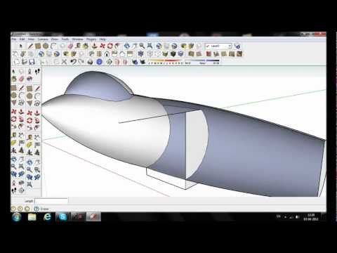 Google sketchup - Plane modelling (Speed sketch)
